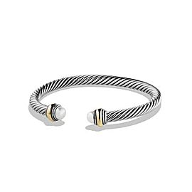 David Yurman Cable Classic Bracelet with Pearl and 14K Gold, 5mm