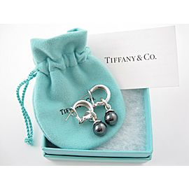 Tiffany & Co Silver RARE Hematite Fascination Pierced Earring NST-751