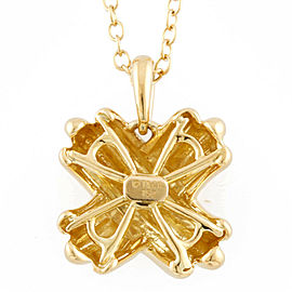 TIFFANY&Co. 18K yellow Gold cross Signature Necklace CHAT-371