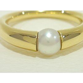 MIKIMOTO 18k yellow gold akoya pearl Ring