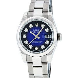 Rolex Datejust 79160 Stainless Steel Blue Vignette Diamond 26mm Watch