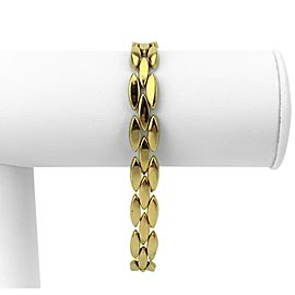 Tiffany & Co. 14k Yellow Gold Ladies Marquise Link Bracelet 7.5""