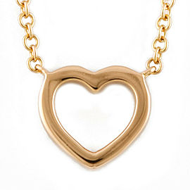 TIFFANY&Co. 18K yellow Gold Diamond Metro heart Necklace