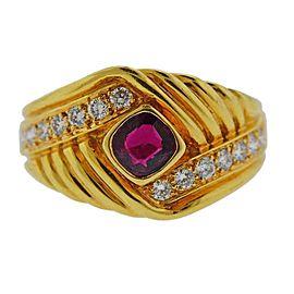 Van Cleef & Arpels Gold Diamond Ruby Ring