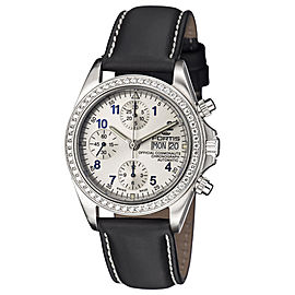 Fortis White Black Calfskin Leather Strap 630.14.92 L.01 Watch