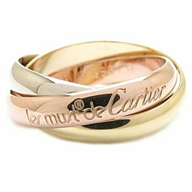 CARTIER 18K Pink Gold/18K Yellow Gold/18K White Gold Trinity Triple Ring