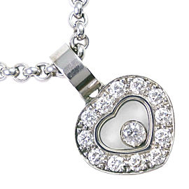 Chopard 18k white gold/diamond Happy Necklace