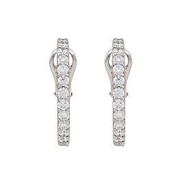 Platinum Diamond In & Out Hoop Earrings
