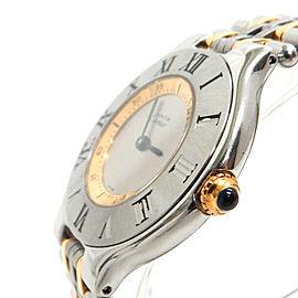 Cartier 21 Stainless Gold Plated Quartz Wrist Watch TBRK-345