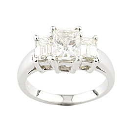 18K White Gold with 2.07ctw. Diamond Engagement Ring Size 5.5