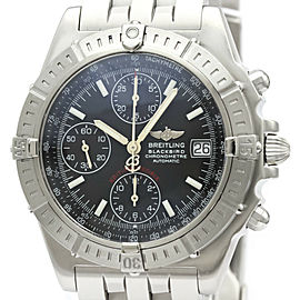 Polished BREITLING Chronomat Black Bird Steel Automatic Watch A13353
