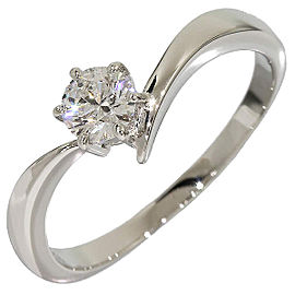 Mikimoto PT950 Platinum Solitaire Diamond Ring