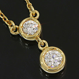 MIKIMOTO 18k Yellow Gold 0.022ct Diamonds Design Pendant Necklace