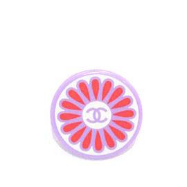 Chanel Resin Lilac Pop Art Daisy CC Logo Purple Flower Ring Size 7