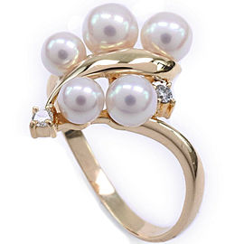 TASAKI 18K yellow gold/diamond/Pearl Ring