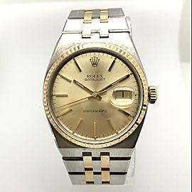 ROLEX Datejust Oysterquartz 36mm 18K Yellow Gold & Steel Watch