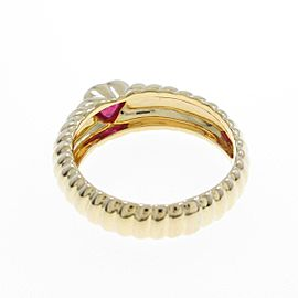 Tiffany & co. 18K Yellow Gold Ribbed Friendship Ring