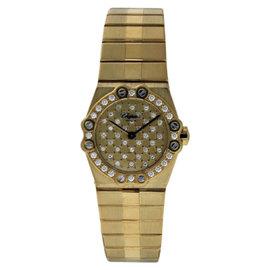 Chopard St. Moritz 18k Yellow Gold Diamond 24mm Watch