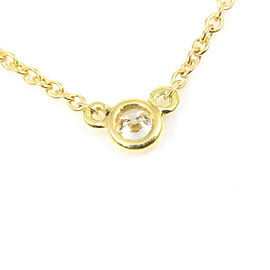 Tiffany & Co. 18K Yellow Gold Diamond By The Yard Necklace Pendant CHAT-217
