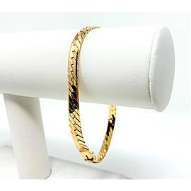 14K Yellow Gold Herringbone Link Chain Bracelet
