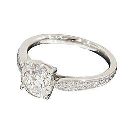 Tiffany & Co. 950 Platinum & 1.04ct Hermony Diamond Ring Size 4.25