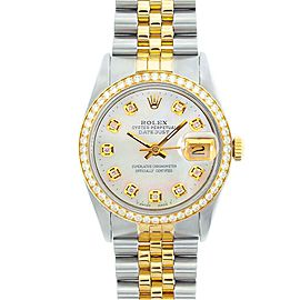 Rolex Datejust 16013 18K Yellow Gold & Stainless Steel 36mm Mens Watch