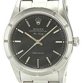 Polished ROLEX Air King U Serial Steel Automatic Mens Watch 14010