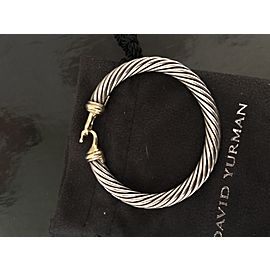 David Yurman 7mm Cable Buckle Bracelet with 18K Gold and Diamond