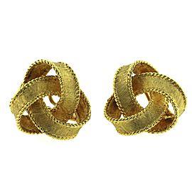 18K Yellow Gold Ribbon Earrings