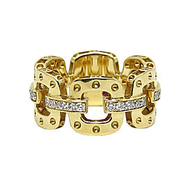 "Roberto Coin ""Pois Moi"" 18K Yellow Gold with 0.30ct Diamond Ring Size 6.5"