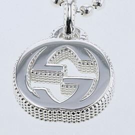 GUCCI 925 silver Interlocking G Flower Necklace