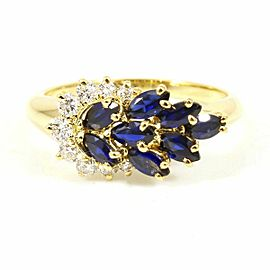 Piaget 18K Yellow Gold Diamond Sapphires Ring CHAT-64