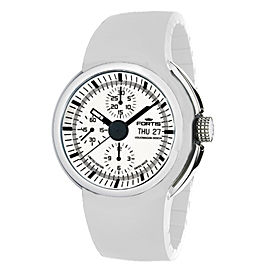 Fortis White White Silicone Strap 661.20.32 Si.02 Watch