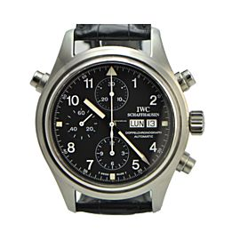 IWC Doppel Spitfire 3713 Stainless Steel 42mm Mens Watch