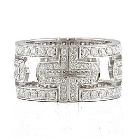 BVLGARI 18k white gold full Diamond Parentesi Ring CHAT-510