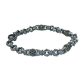 David Yurman Sterling Silver with 2.75ct. Black Diamond Armory Bracelet