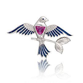 Le Vian Certified Pre-Owned Bubblegum Pink Sapphire Bird Pin
