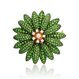 Le Vian Certified Pre-Owned Forest Green Tsavorite Flower Pin