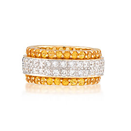 Le Vian Certified Pre-Owned Sunny Yellow Sapphires and Vanilla Diamonds Ring