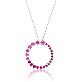 Le Vian Certified Pre-Owned Bubblegum Pink Sapphires and Passion Ruby Pendant