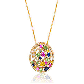Le Vian Certified Pre-Owned Multi Colored Sapphires Pendant