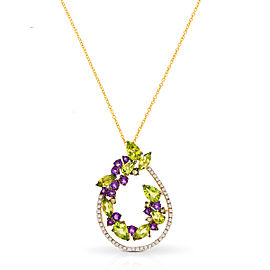 Le Vian Certified Pre-Owned Green Apple Peridot Pendant