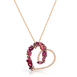 Le Vian Certified Pre-Owned Raspberry Rhodolite Heart Pendant