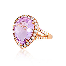 Le Vian Certified Pre-Owned Cotton Candy Amethyst and Vanilla Sapphires Ring set in 14k Strawberry Gold