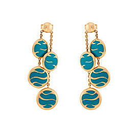 Le Vian Certified Pre-Owned Blue Enamel Earrings