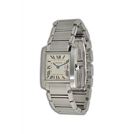 Cartier Tank Francaise W51011Q3 Stainless Steel 31mm Unisex Watch