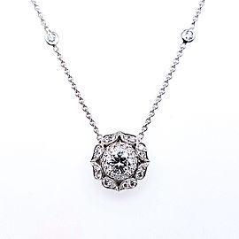 Charles Krypell Precious Pastel 4-9118-PL-PL Platinum Diamond Pendant
