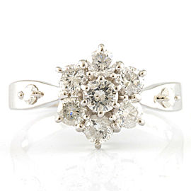 Platinum Diamond Flower Ring CHAT-917
