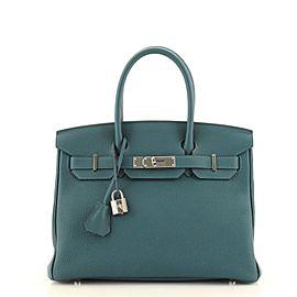 Hermes Birkin Handbag Colvert Togo with Palladium Hardware 30