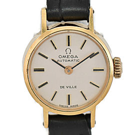 OMEGA Deville 551.037 Gold Plated/Leather Cal.661 Hand Winding Ladies Watch